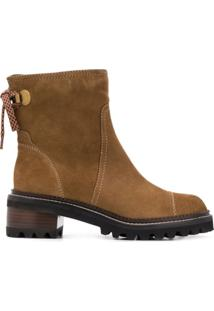 See By Chloé Suede Ankle Boots - Marrom