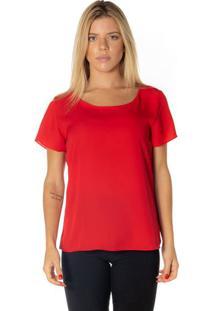 Blusa Em Crepe - Vermelhadwz