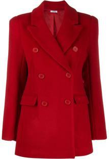 P.A.R.O.S.H. Double Breasted Jacket - Vermelho