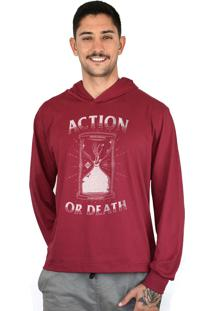 Blusa Action Clothing Action Or Death Vinho