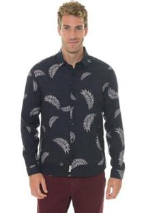 Camisa Timberland Ml Printed Masculina - Masculino