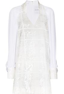 Halpern Vestido Reto Com Paetês - Branco