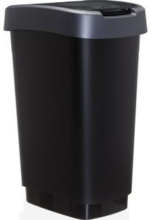 Lixeira Reciclagem Rotho Plastico Cinza 50 Litros