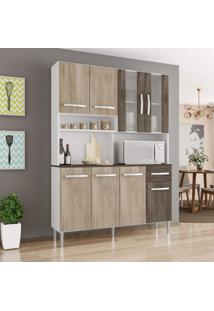Cozinha Compacta 8 Portas 1 Gaveta Bianca Siena Móveis