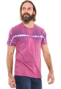 Camiseta Doc Dog Manga Curta Tie Dye Rosa/Roxa