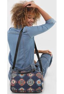 Bolsa Baú Desigual Jeans E Azulejo Português Azul