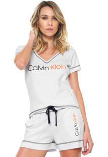 de0cb6f92a90e Camiseta Calvin Klein Pesponto feminina   Shoelover