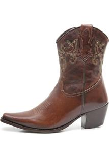 Bota Feminina Elite Country Dallas Fossil Tabaco