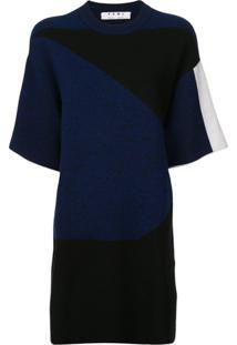 Proenza Schouler White Label Vestido De Tricô Em Jacquard Gráfico 'Pswl' - Azul