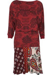 Vestido Desigual Curto Indira Vermelho