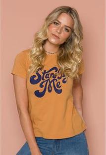 T- Shirt Stand By Me Sislla Feminina - Feminino-Laranja