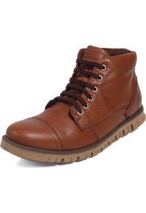 Bota Tchwm Shoes Coturno Cano Medio Couro