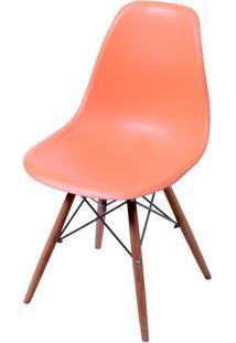 Cadeira Eames Polipropileno Laranja Base Escura - 44833 - Sun House