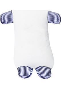 Travesseiro Soninho Padroeira Baby Catavento Azul Marinho