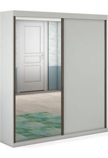 Armário Dijon 02 Portas De Correr Sendo 01 Com Espelho - 1,80, Padrao - Branco