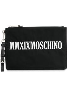 Moschino Clutch Mmxix Com Logo - Preto