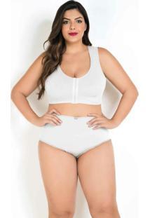 Sutiã Plus Size Branco Modelo Nadador