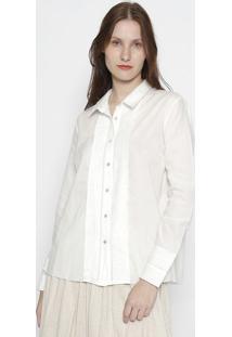 Camisa Fibras Nobres Com Pregas - Brancaosklen
