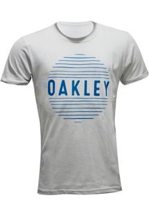Camiseta Oakley Croocked Lines Masculina - Masculino-Cinza