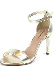 Sandalia Emporio Naka Slim Metalizada Dourada