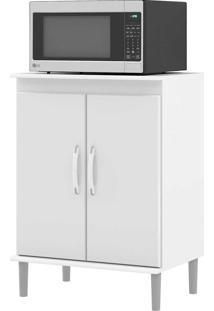 Armário De Cozinha Para Micro-Ondas 2 Portas 01500 Branco - Ej Móveis