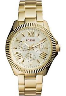 Relógio Fossil Feminino - Feminino-Dourado