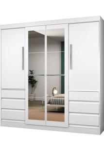 Guarda-Roupa Araplac Mã³Veis 4 Portas Branco - Branco - Dafiti
