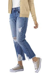 Calça Jeans Boyfriend Azul
