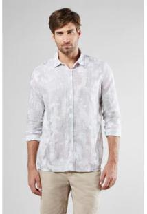Camisa Regular Reserva Bosque Masculina - Masculino-Off White