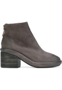 Marsèll Ankle Boot De Camurça - Cinza