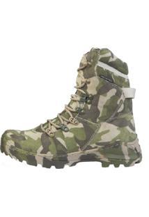 Bota Acero Militar Camuflada Verde