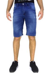 Bermuda Jeans Maresia Scratched Blue
