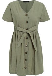 Vestido Sweet - Verde Militar G