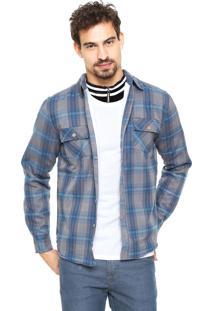 Camisa Gangster Reta Azul