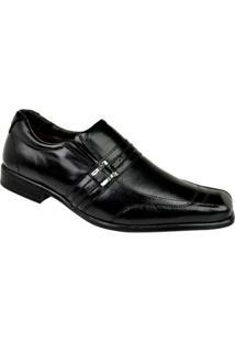 Sapato Social Constantino Elástico Masculino - Masculino-Preto