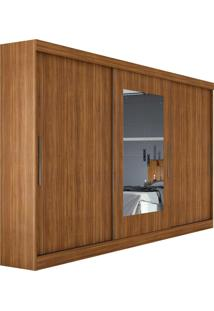 Guarda Roupa Casal Com Espelho 3 Portas 4 Gavetas Montebello Marrom - Marrom - Dafiti