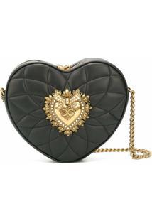 Dolce & Gabbana Bolsa Transversal Heart - Preto