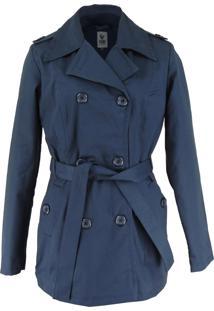 Casaco Trench Coat Fiero Térmico Azul-Marinho