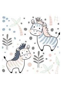 Papel De Parede Animais Zebras Escandinavas 57X270Cm