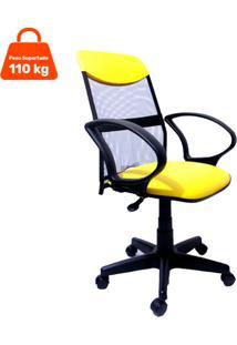 Cadeira De Escritã³Rio Presidente Costaneira Soft Amarelo