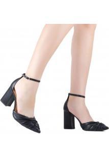 Sapato Cecconello Scarpin Salto Grosso