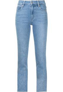 Paige Calça Jeans Cindy Com Barra Desfiada - Azul