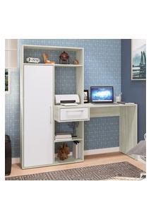 Mesa Escrivaninha Estilare Est11 Modern Office 1 Porta 4 Nichos