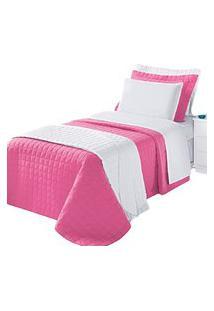 Cobre Leito Montreal Solteiro 2 Peças 100% Algodáo 150 Fios Pink