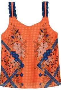 Blusa Estampa Floral Sublimática Malwee
