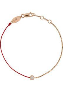 Redline Pulseira De Ouro Rosê 18K Com Diamante - Dourado