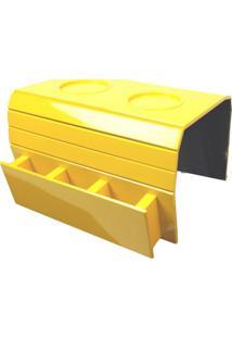 Bandeja Para Braço De Sofá Com Porta Controle Amarelo