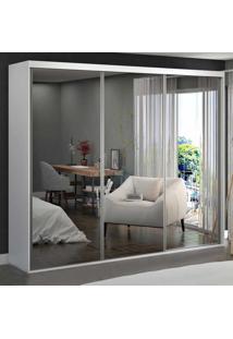 Guarda-Roupa Casal 3 Portas De Espelho 100% Mdf 1987E3 Branco - Foscarini