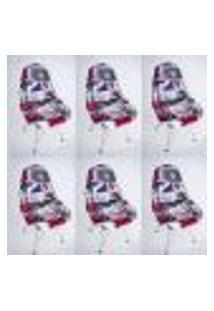 Kit Com 06 Capas Para Cadeira De Jantar Charles Eames Wood Londres