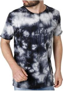 Camiseta Vels Manga Curta Masculina - Masculino-Azul